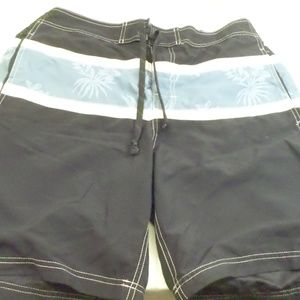 Chaps Blue Mens Swim Trunks L